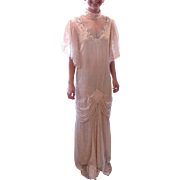 Reproduction of a 1920's Wedding Dress in Cream Lace