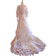 Vintage Princess Diana Style Wedding Gown