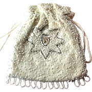 Vintage Drawstring Bridal Purse