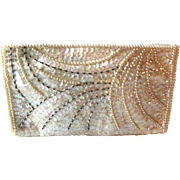 Post War Japanese Made Sequin and Bead Clutch