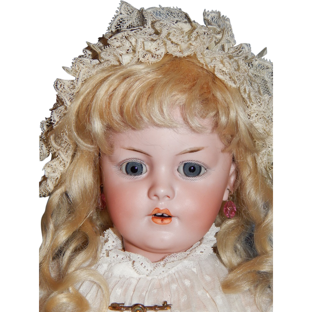 "Antique 18 1/2"" Simon & Halbig #1279 DEP Character Child"