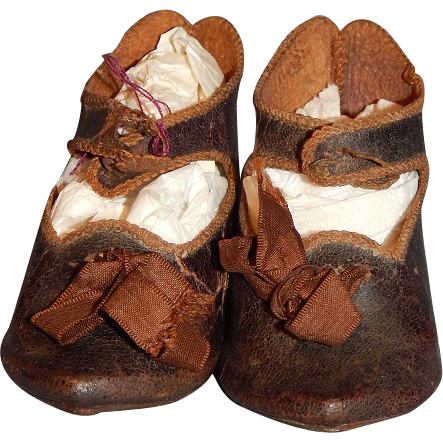 Antique Marked Jumeau Doll Shoes