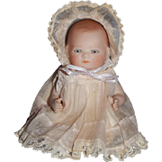 "5.5"" Antique All Bisque Bye Lo Baby, fully marked"