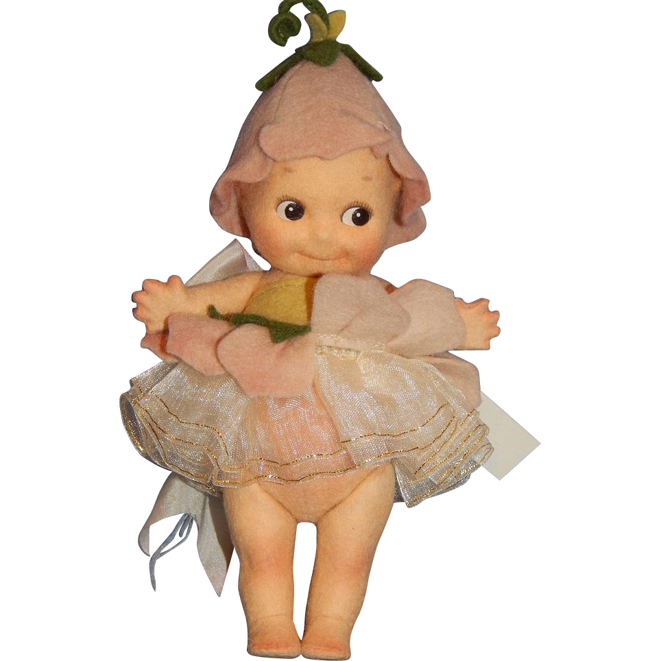 "7"" R. John Wright Kewpie ""Fleur"" with Googly Eyes"