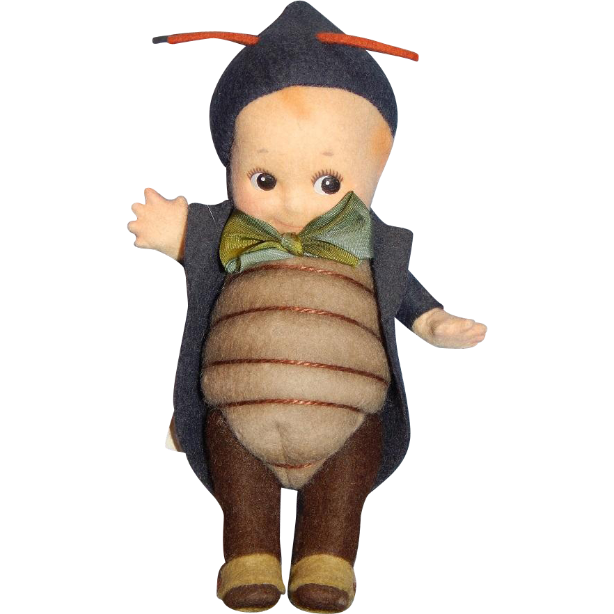 "7"" R. John Wright Kewpie ""Peeper"" with Googly Eyes"