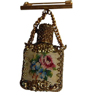 Antique Perfume Bottle Pin