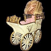 """9"""" Marklin Antique Doll Carriage"""
