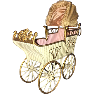 "9"" Marklin Antique Doll Carriage"
