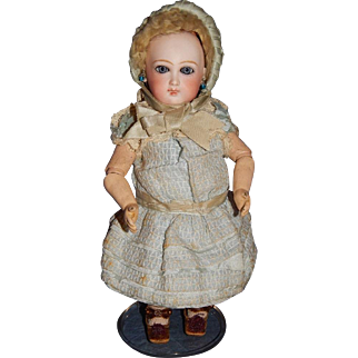 """10"""" Rare Early Unmarked Jumeau Cartouche Bebe"""