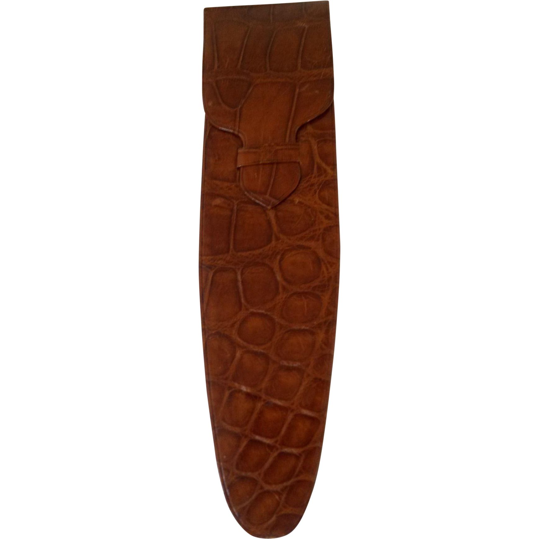 Asprey of London Crocodile pen/spectacles case