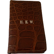 English Crocodile Card Case