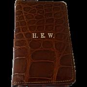 English Crocodile Card Case