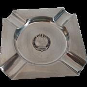 English Silverplate and Enamel Royal Coronation Ashtray