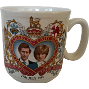 Prince Charles and Diana's Wedding Commemorative China Mug