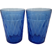 Pair of Cobalt Cocktail or Juice Glasses