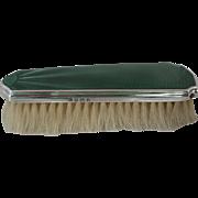 English Sterling Silver and Enamel Vanity Brush 1933