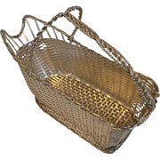 Christofle Gallia Silver Plate Wine Basket