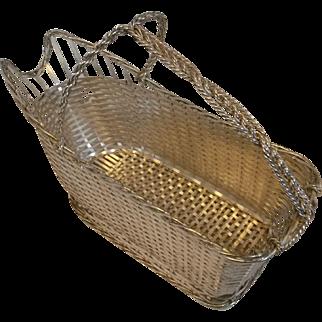 Christofle Gallia Silver Plate Wine Basket
