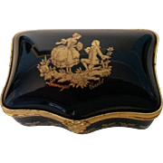 Limoges Castel 22 K Gold Fragonard Box