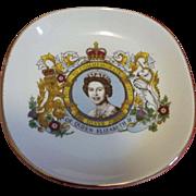 Queen Elizabeth II Silver Jubilee Commemorative Dish 1977