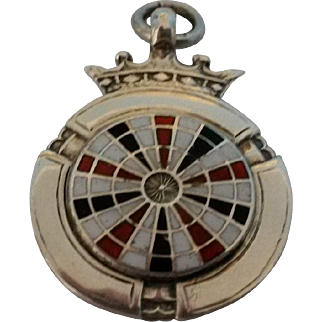 Sterling Silver and Enamel Watch Fob 1913