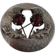 Scottish Sterling Silver Thistle Pin 1952