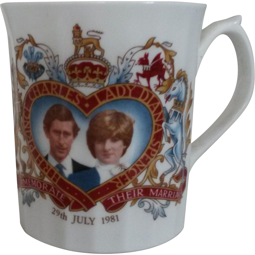 Princess Diana Commemorative Wedding Mug