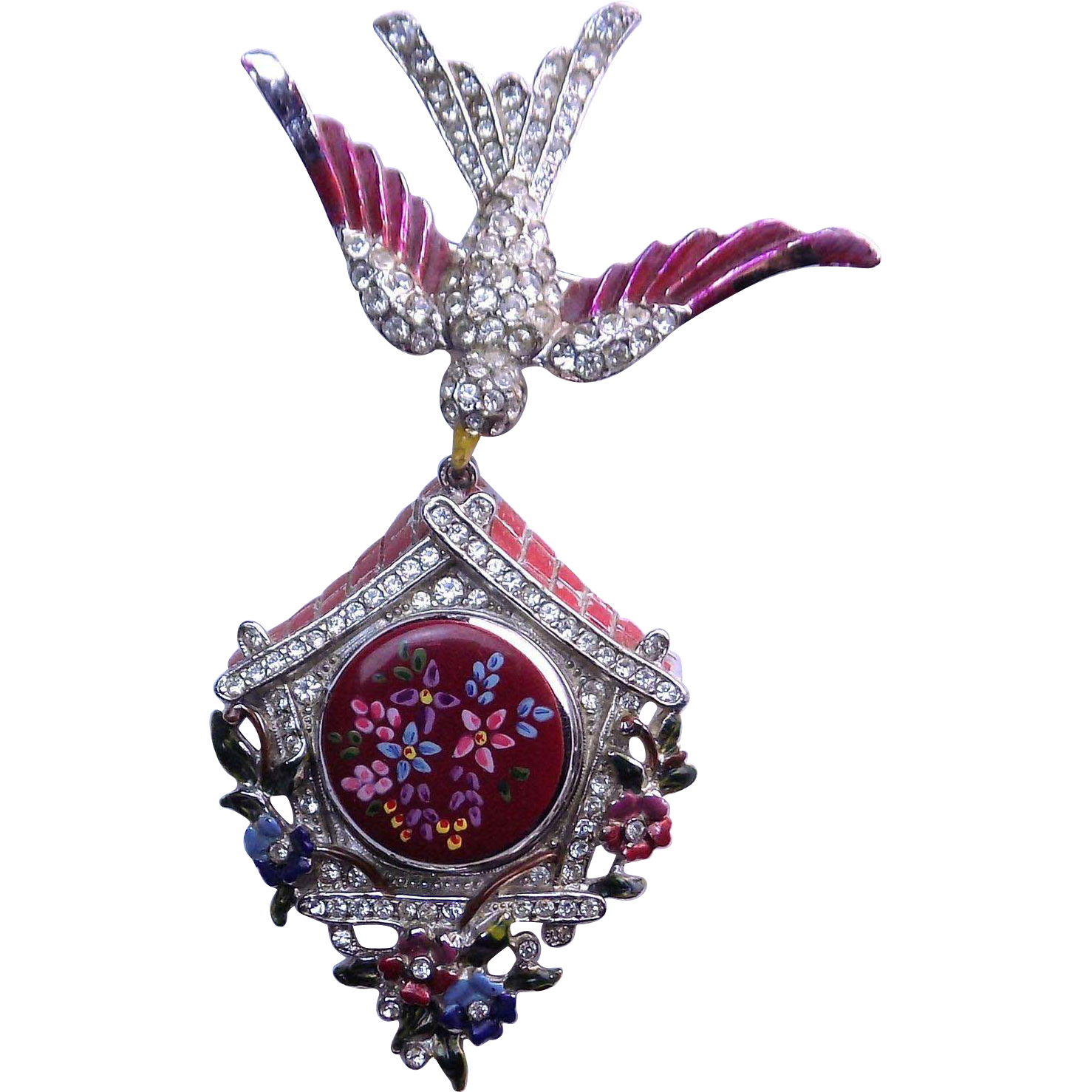 "1941 Coro ""Brooch and Locket"" Pin"