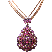 Early Hobe Glass Jeweled Necklace