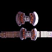 SCEPTRON Reinad Bracelet & Brooch Pin 1940's