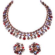 SCHREINER Necklace Earrings Beautiful Stones