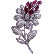 1940 TRIFARI Lotus Flower Clip Philippe