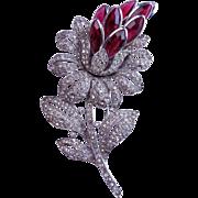 1940 TRIFARI Lotus Flower Clip Philippe