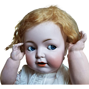 """PERSONALITY PLUS!  25"""" flirty eyed character baby by Franz Schmidt, heads by Simon Halbig"""