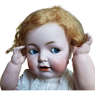 "PERSONALITY PLUS!  25"" flirty eyed character baby by Franz Schmidt, heads by Simon Halbig"
