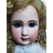 "ADORABLY SWEET 34"" Jules Steiner A20 French Bebe doll, lovely costume!"
