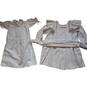 2 whitework doll dresses for 31 inch doll