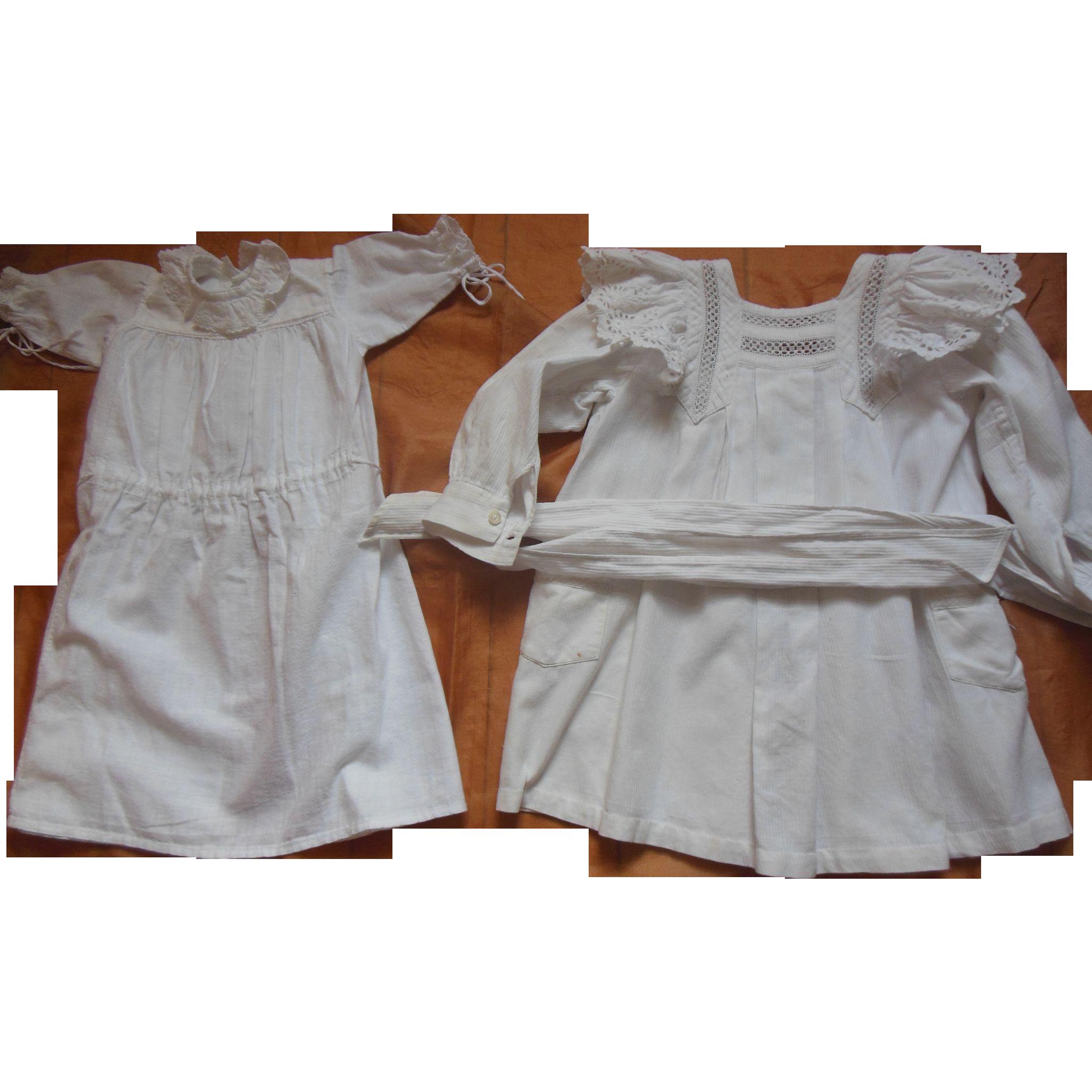 2 whitework doll dresses for 31 inch doll