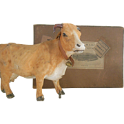 French cow in original Au Bon Marché box 1892
