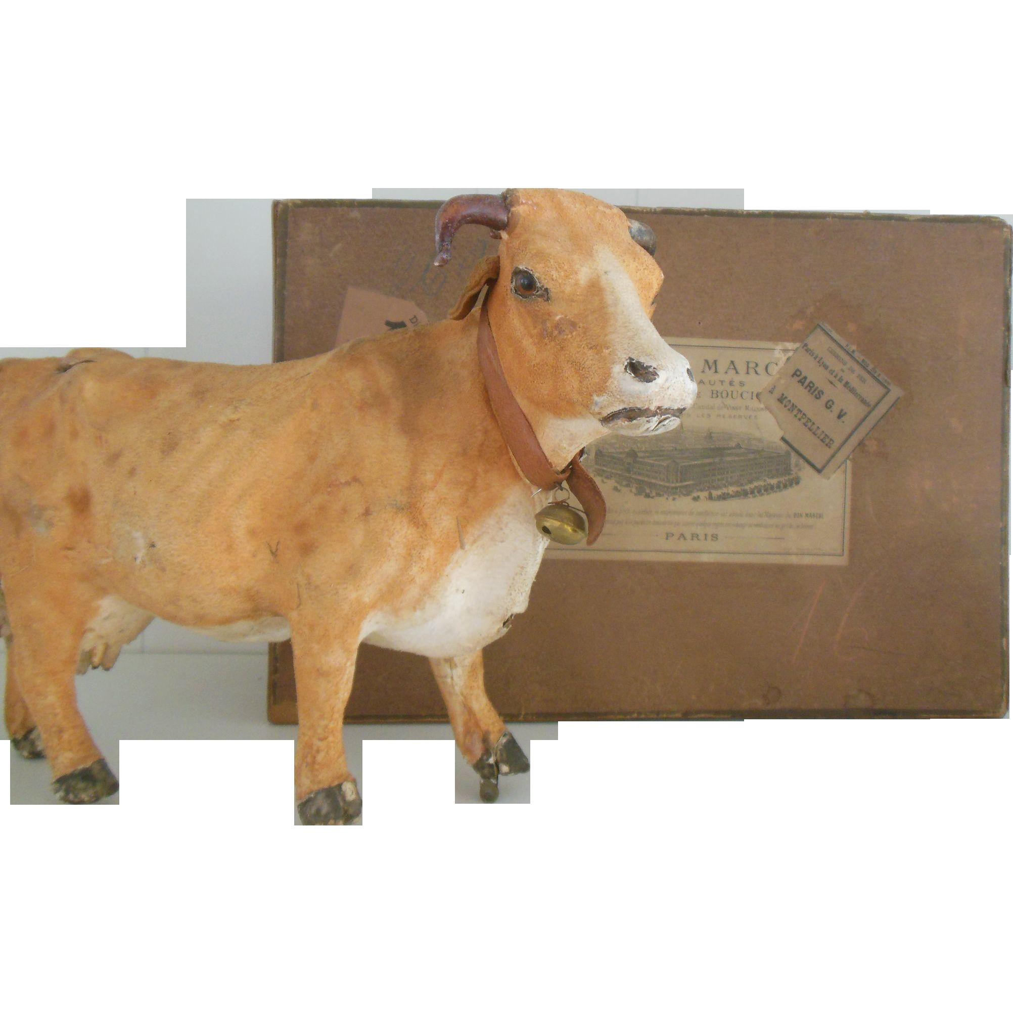 French cow in original Au Bon Marché box 1892
