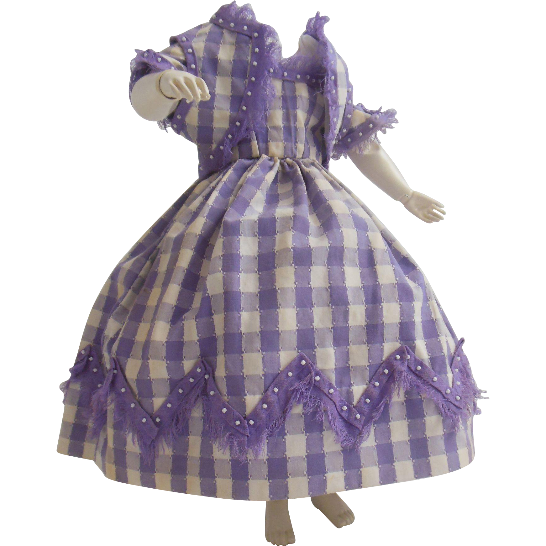 Wonderful dress for Huret or early fashion doll enfantine style