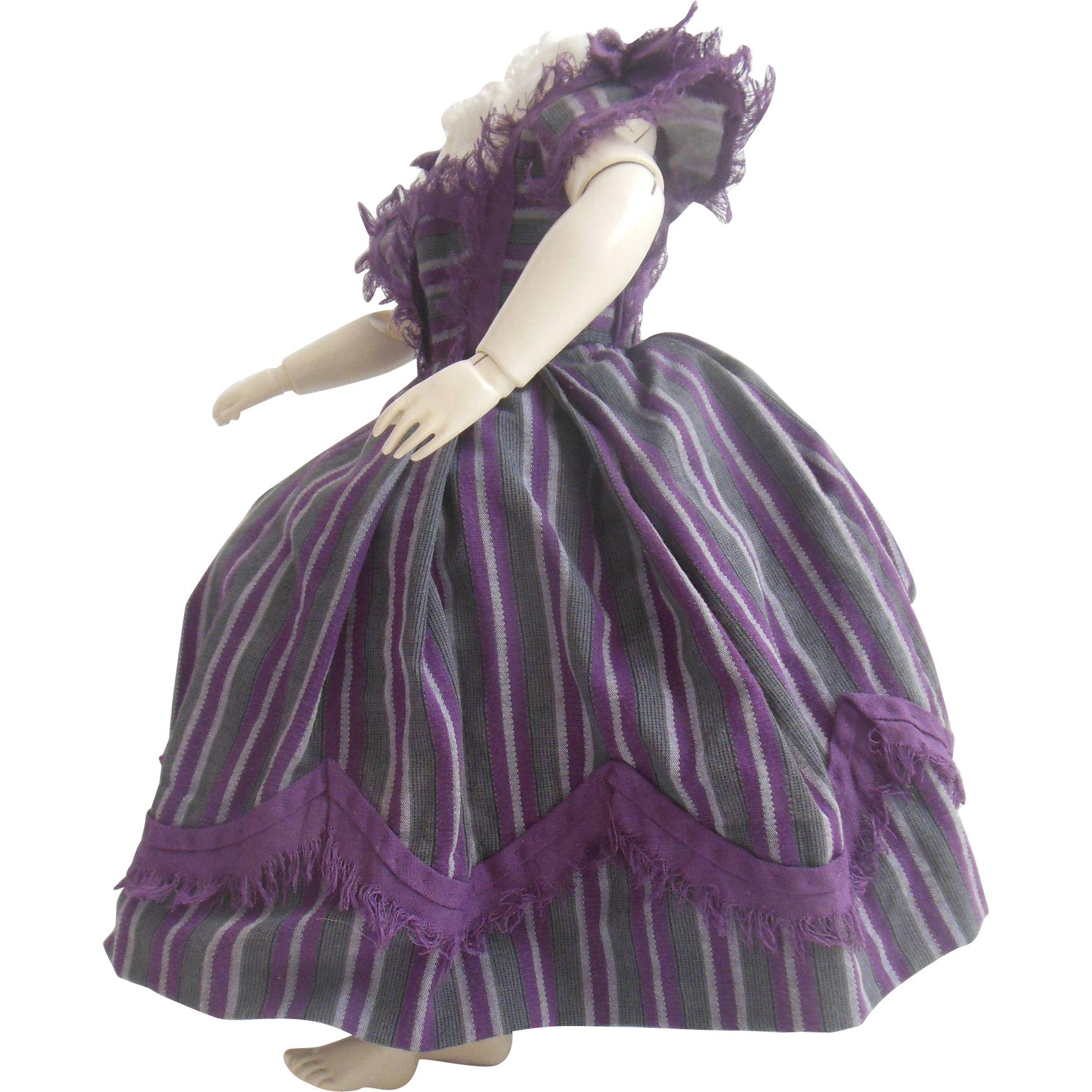 Enfantine style dress set for Huret or early french fashion doll