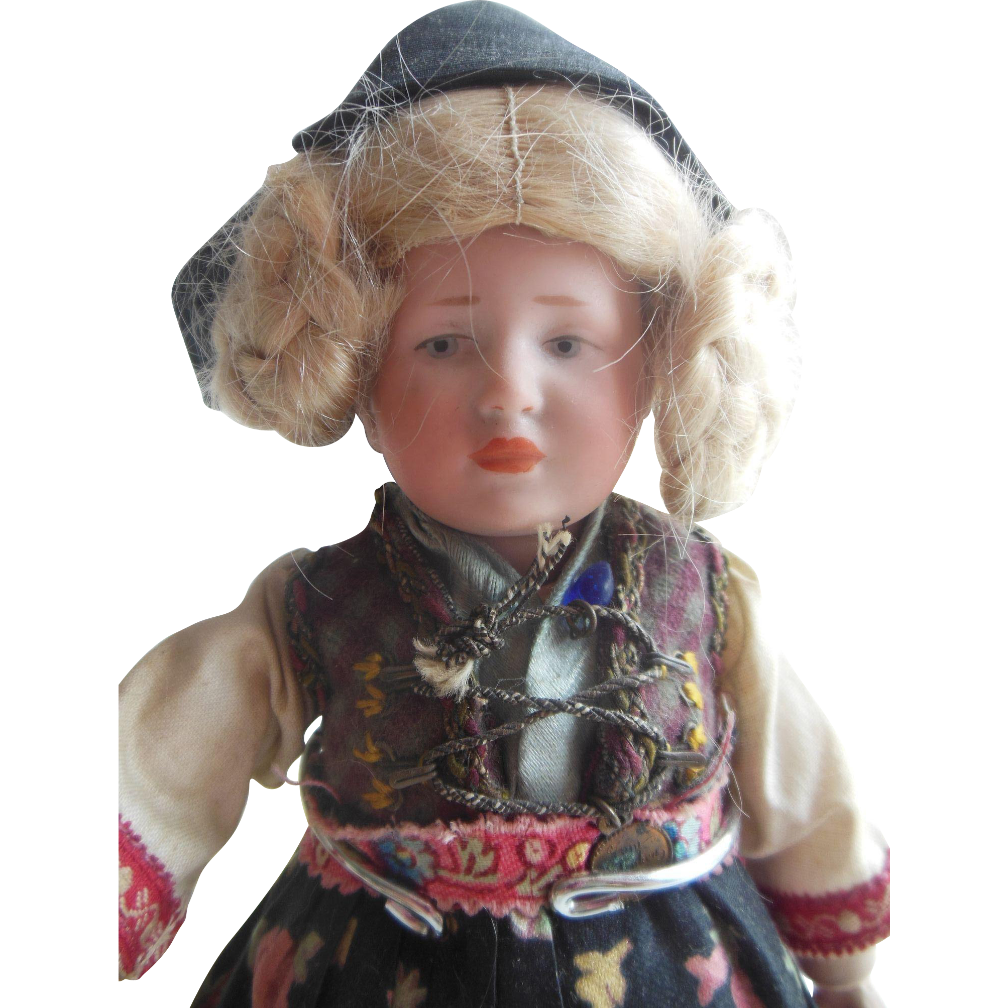 Tiny fully articulated K&R 101 Marie doll 7 1/2 inch