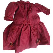 Silk Dress for antique french Jumeau or Steiner doll