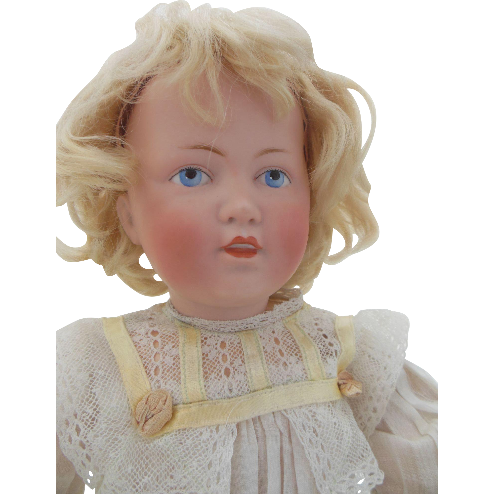 "Rare Kestner 179 character doll with painted eyes 14 1/2"" tall"