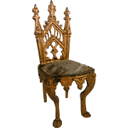 Wonderful Miniature gilded chair 1870-1880 era