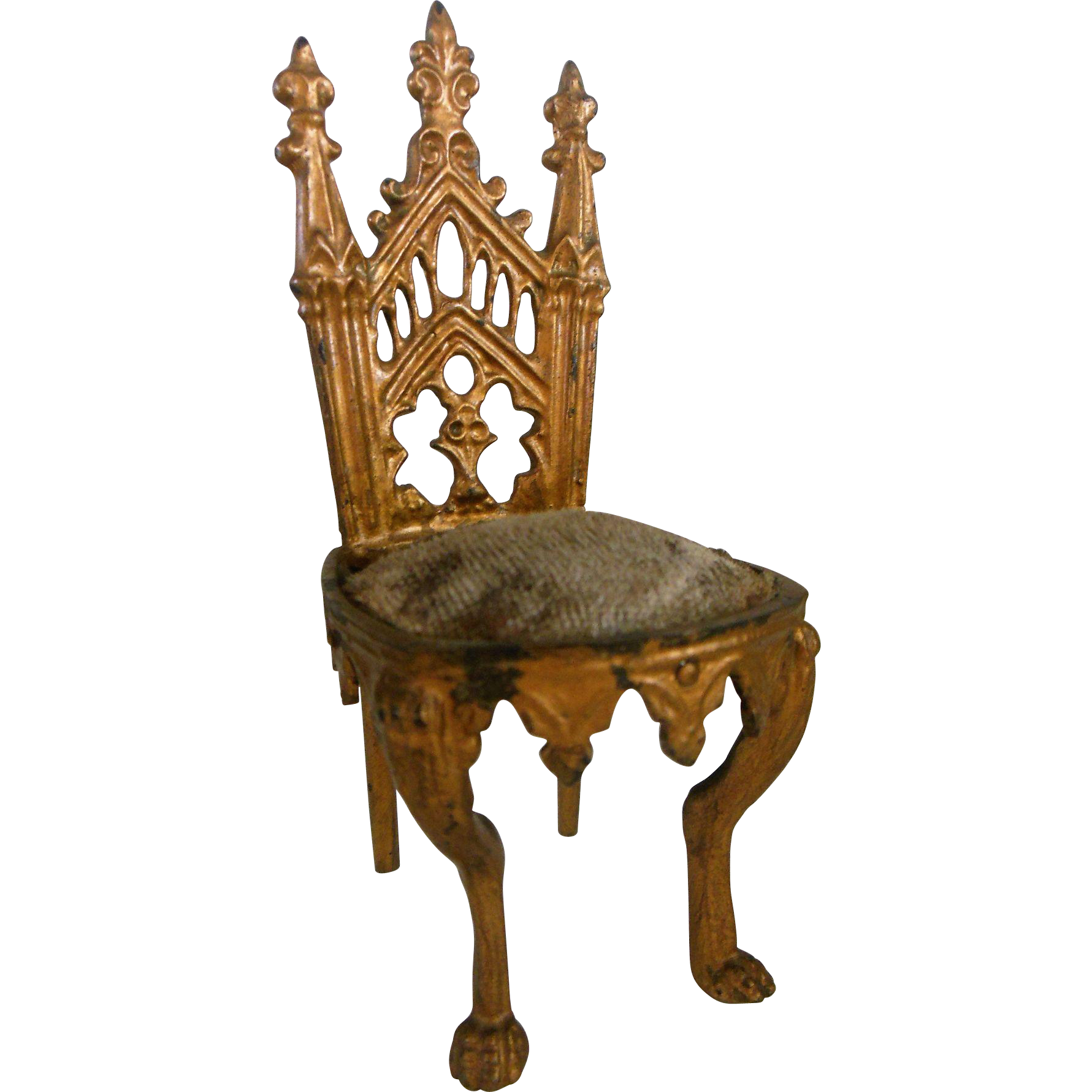 Wonderful Miniature gilded chair 1870-1880 era