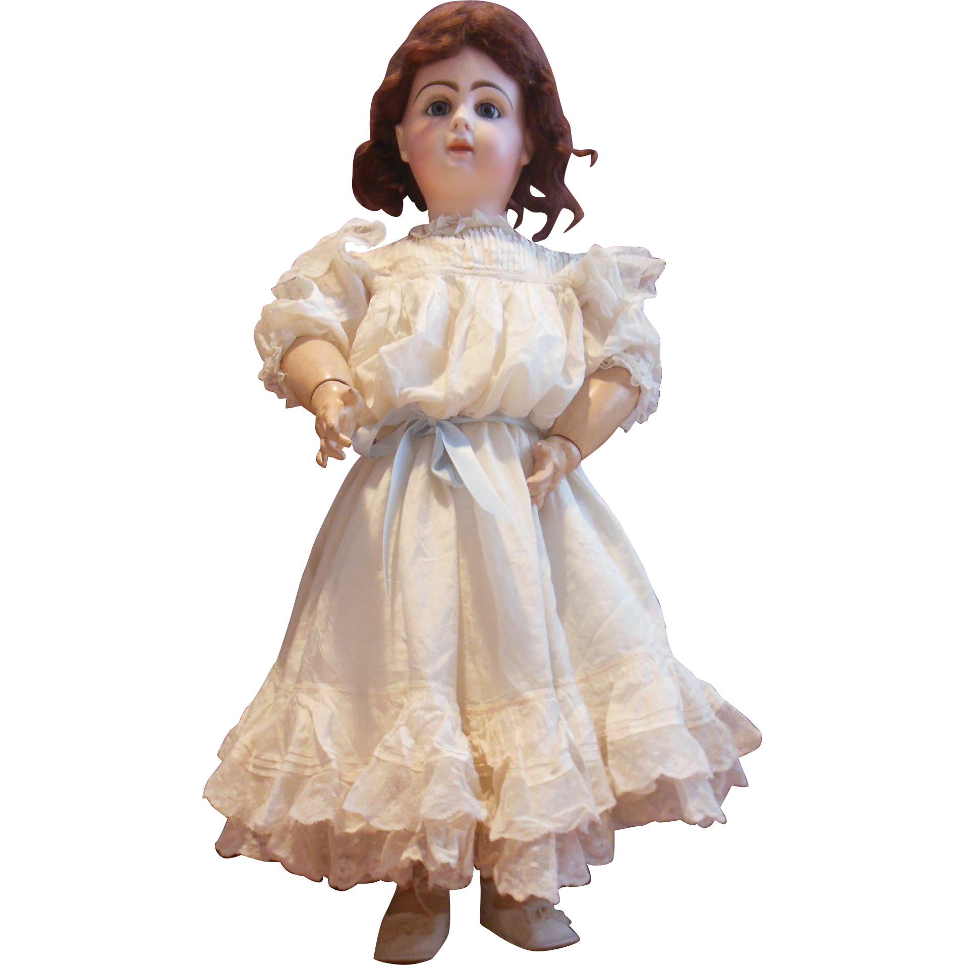Antique silk dress for size 12 Jumeau or french doll