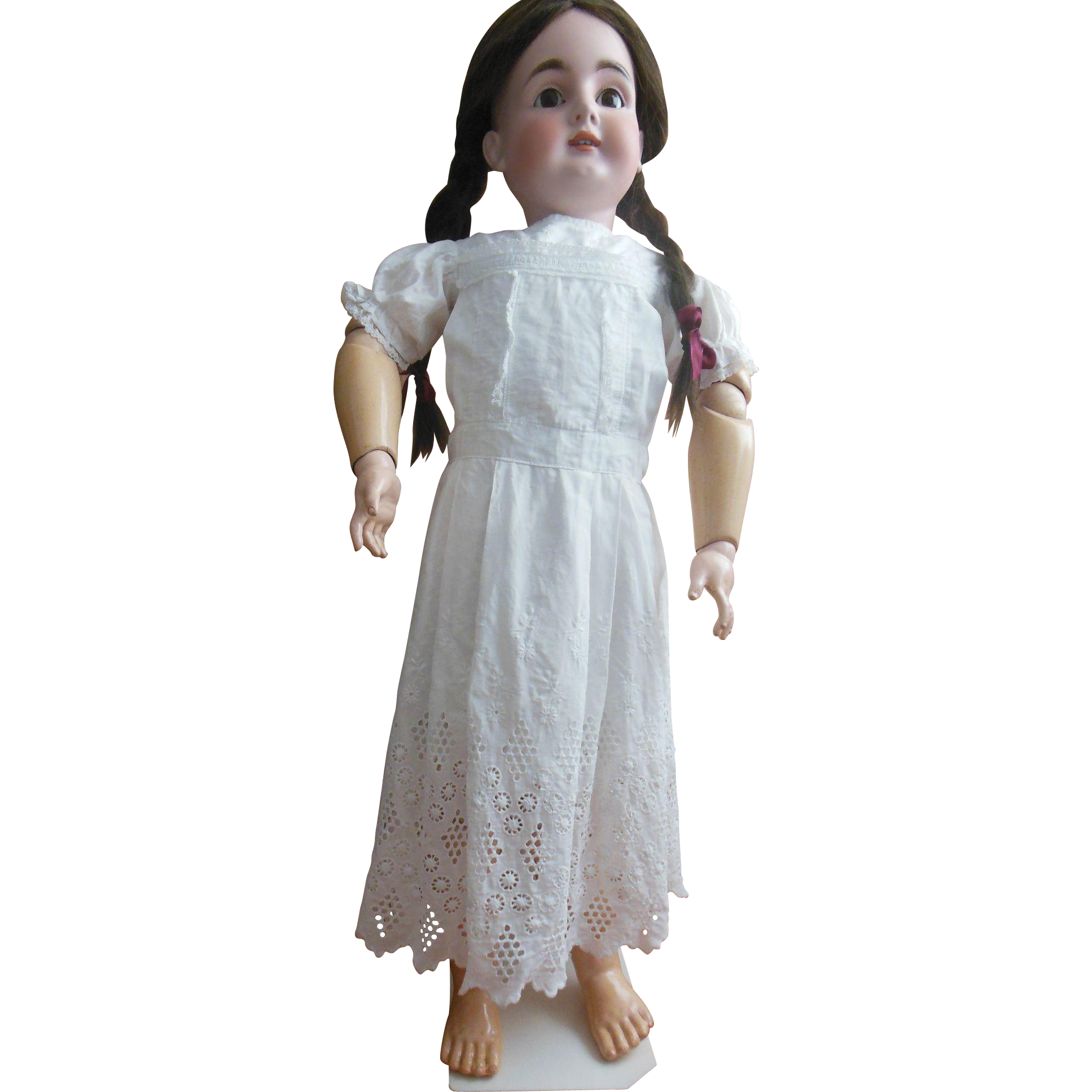 Whitework dress for large doll