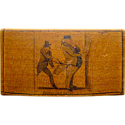 Early 19th Century  Mauchline Snuff Box with Satirical Theme